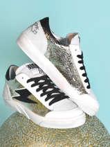 Sneakers in leather-SEMERDJIAN