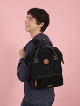 Backpack S 1 Compartment Cabaia Black tour du monde S-vue-porte