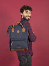 Customisable Backpack Cabaia Black tour du monde BAGS-vue-porte