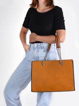 Shopping Bag Format A4 Gallantry Brown format a4 1527-vue-porte