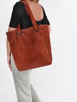 Shopper Velvet Suede Milano Red velvet VE21062-vue-porte