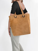 Shopper Velvet Suede Milano Brown velvet VE21062-vue-porte