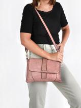Leather Dewashed Crossbody Bag Milano Pink dewashed DE20075-vue-porte