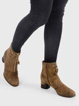 Boots a talon en cuir-MAM