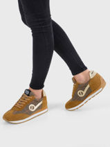 Sneakers city run jogger suede willow-NO NAME-vue-porte