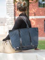 Zipped Shoulder Bag Le Cabas Sequins Vanessa bruno Blue cabas 1V40409