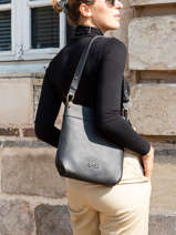 Crossbody Bag Tiki Mini Leather Nathan baume Black victoria N1910586