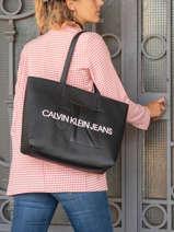 Shopping Bag Denim Calvin klein jeans Black denim K607200