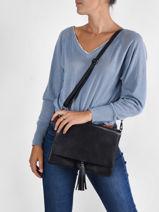 Shoulder Bag Caviar Leather Milano Violet caviar CA21062-vue-porte