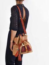 Medium Leather Premier Flirt Python Bucket Bag Lancel premier flirt A11757-vue-porte