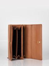 Large Leather Judith Wallet Le tanneur Brown judith TJUD3301-vue-porte
