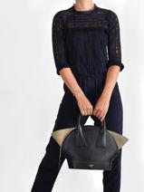 Leather Macaron Top-handle Bag Lancel Black macaron A11732-vue-porte
