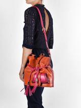 Medium Leather Bucket Bag Premier Flirt Lancel premier flirt A10531-vue-porte