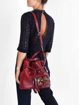 Medium Leather Bucket Bag Premier Flirt Python Lancel premier flirt A10529-vue-porte
