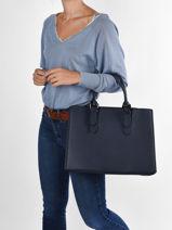 Shopping Bag Format A4 Gallantry Blue format a4 DQ8590-vue-porte