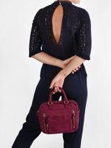 Leather Baby Macy Crossbody Bag Nat et nin vintage BABYMACY-vue-porte