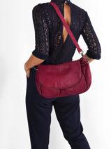 Crossbody Bag Lola Leather Vintage Leather Nat et nin vintage LOLA-vue-porte