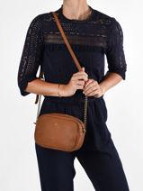 Shoulder Bag Vintage Leather Nat et nin Brown vintage GERI-vue-porte