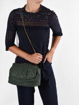 Shoulder Bag Vintage Leather Nat et nin Green vintage POLLY-vue-porte