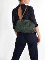 Shopper Vintage Leather Nat et nin Green vintage SELENA-vue-porte