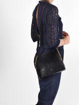 Shoulder Bag Lezard Nat et nin Black lezard L-vue-porte