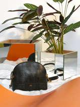 Shoulder Bag Lezard Nat et nin Black lezard L