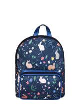 Mini Backpack Belle Rentrée Mini Fille Caramel et cie Blue mini fille F