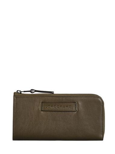 Longchamp Longchamp 3d zip Wallet Green