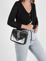 Crossbody Bag Argento Leather Paul marius Black argento GAVROARG-vue-porte