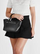 Small Leather Jade Satchel Le tanneur Black jade TJAD1100-vue-porte