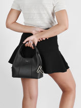 Small Leather Juliette Satchel Le tanneur Black juliette TJET1000-vue-porte