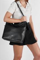 Large Leather Pauline Hobo Bag Le tanneur pauline TPOL1420-vue-porte