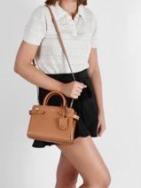 Small Leather Emily Handbag Le tanneur Brown emily TEMI1606-vue-porte