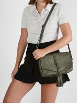 Shoulder Bag Adele Miniprix Green adele MD5353-vue-porte