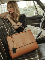 Top Handle Blazer Leather Etrier Brown blazer EBLA001L