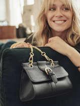Shoulder Bag Equilibre Leather Etrier Black equilibre EEQU001S