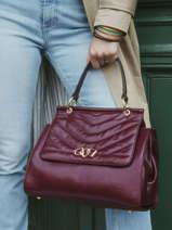 Shoulder Bag Cavale Leather Etrier Red cavale ECAV001L