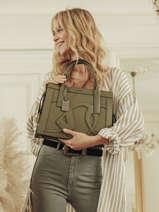 Top Handle Alezan Leather Etrier Green alezan EALE003M