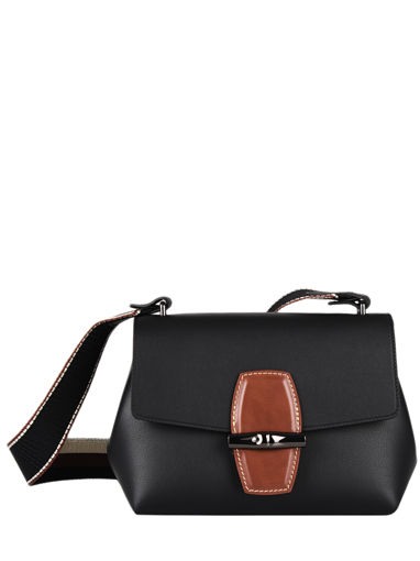 Longchamp Roseau sellier Sacs porté travers Noir