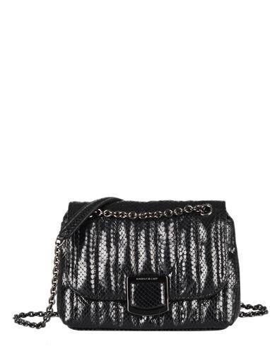 Longchamp Brioche serpent Messenger bag Black