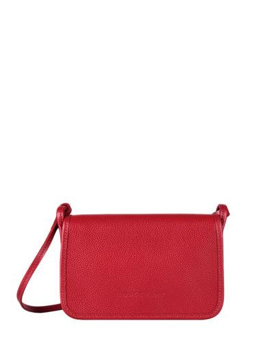 Longchamp Le foulonné Portefeuilles Rouge