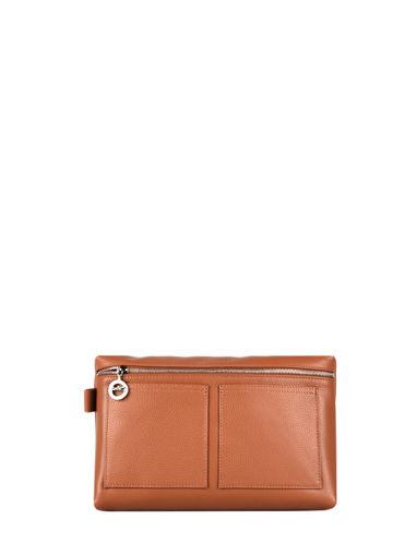 Longchamp Le foulonné Toiletry case Brown