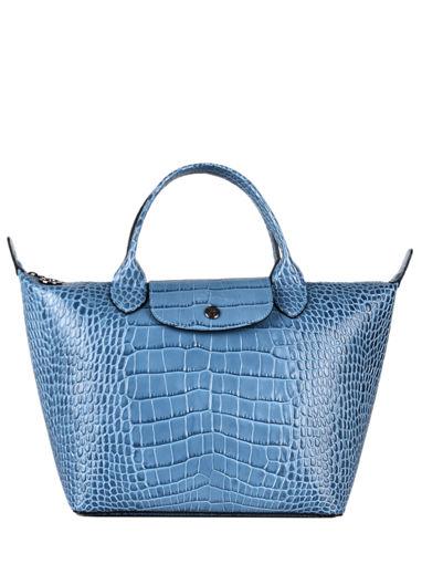 Longchamp Le pliage cuir croco Handbag Blue