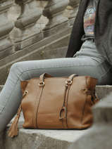 Leather Tote Bag Tradition Etrier Brown tradition EHER25
