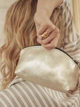 Leather M Coins Purse Etincelle Etrier Gold etincelle irisee EETI653