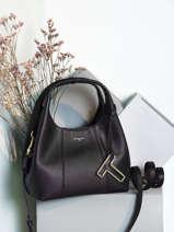 Small Leather Juliette Satchel Le tanneur Black juliette TJET1000