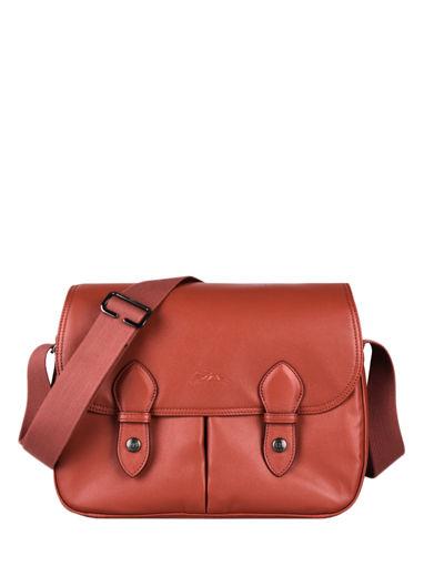 Longchamp Le pliage cuir Besaces Rouge