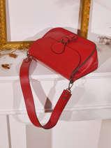 Leather Caviar Shoulder Bag Milano Red caviar CA20122