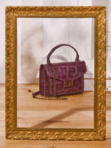 Top Handle River Leather Milano Violet river RI21061