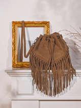 Shoulder Bag Velvet Suede Milano Brown velvet VE21063